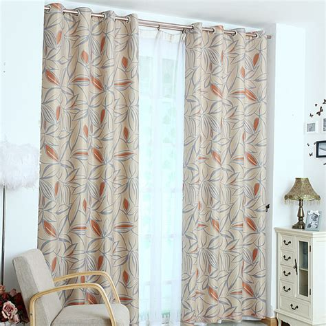 doorway privacy curtains leaf print polyester insulated patio door privacy curtains