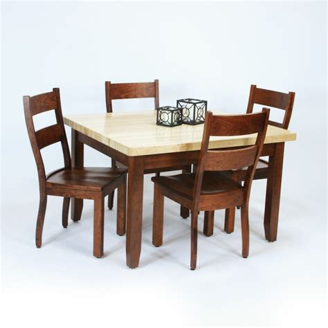 butcher block dining room table butcher block dining set country lane furniture