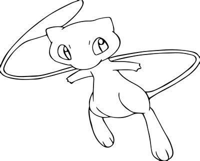 pokemon coloring pages of mew pokemon mew coloring pages grig3 org