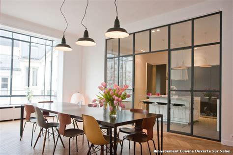 salon salle a manger cuisine ouverte amnagement cuisine ouverte sur salon with contemporain