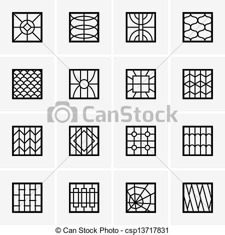 Fancy Grill By Kitchenware stock photos of set of iron window grills csp13717831