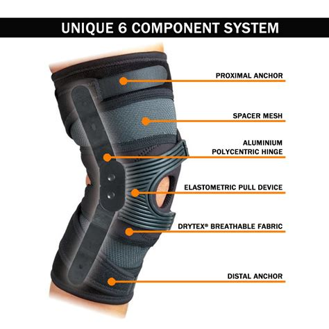 Table Epl Donjoy Hinged Tru Pull Advanced Knee Brace Physioroom Com