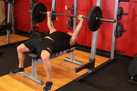 How To Do The Bench Press barbell bench press medium grip exercise guide and