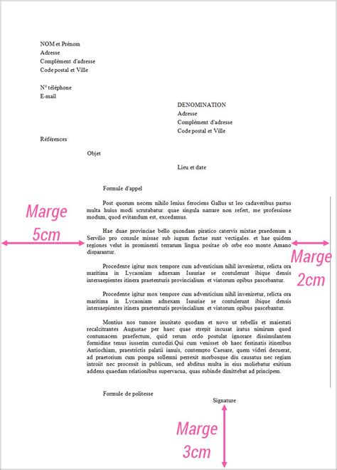 Exemple Lettre Formelle Ambassade Vie Organisee Lettre Administrative Formelle R 233 Diger