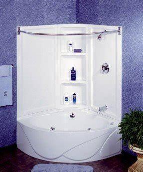 corner tubs for small bathrooms foter neat corner tub shower combo home ideas pinterest