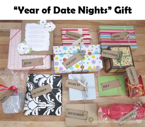 Bridal Shower Gifts For The by Year Of Date Nights Gift 12 Gifts Opened All Year Great Alternative For Bridesmaid Gift