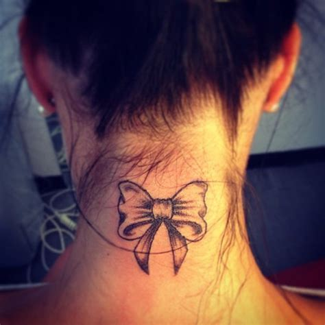 small tattoo on back of neck dreamcatcher on neck