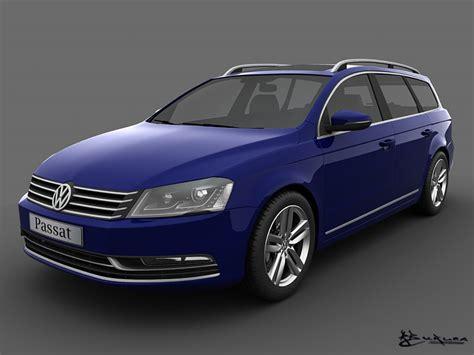 Volkswagen Payment Login by Volkswagen Passat Estate 2011 3d Model