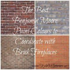 the best benjamin paint colours to coordinate with brick fireplaces for the walls
