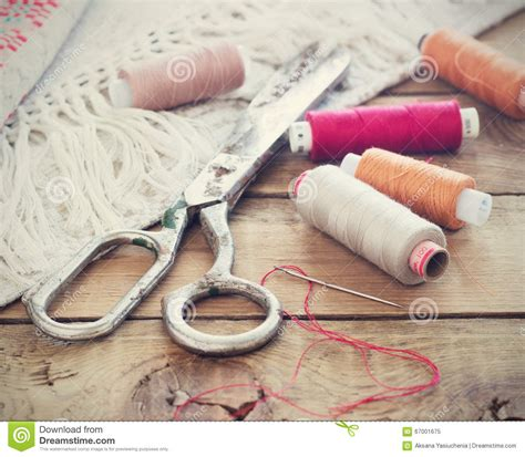 upholstery needle and thread sewing supplies scissors thread with and scissors