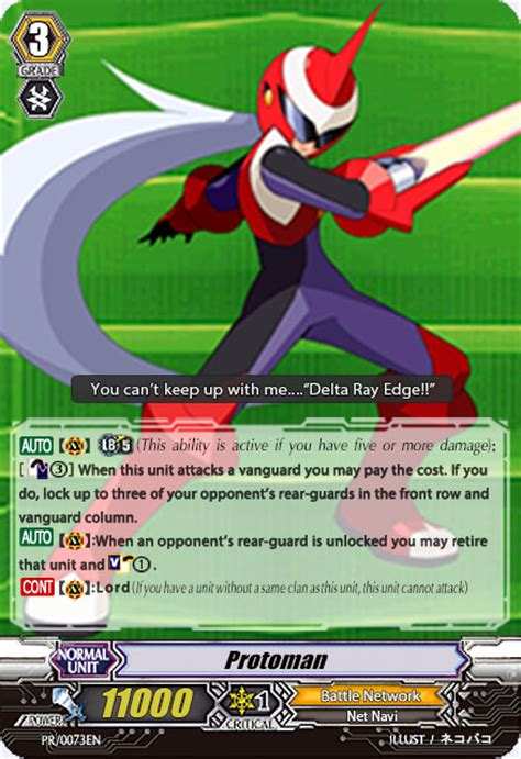 cardfight vanguard card template front and back cardfight vanguard custom card protoman by tariotfeow on