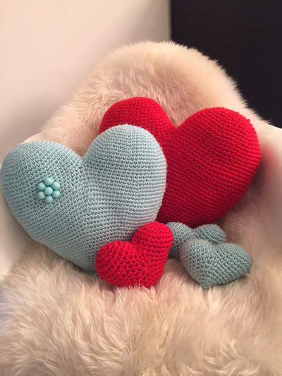 cuscino cuore uncinetto cuscino cuore amigurumi grande color per la casa