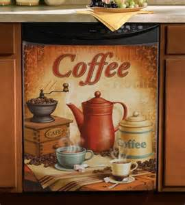 Coffee Kitchen Accessories Vintage Coffee Dishwasher Cover From Collections Etc