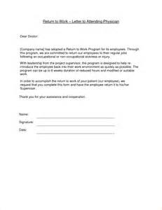 Back To Work Template by 13 Return To Work Letter From Doctoragenda Template Sle