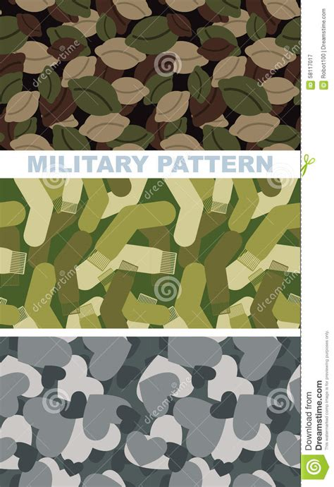 pattern usa army vector set of military camouflage texture army pattern of