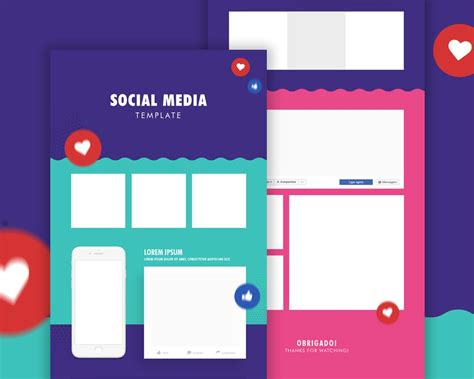 templates for social media free social media post template psd download download psd