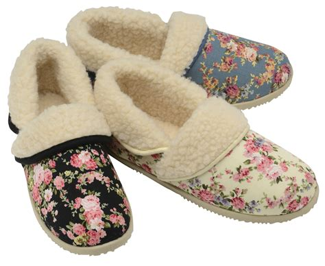 ladies house shoes womens slippers ladies dunlop shoe slipper warm winter faux fur size 3 4 5 6 7 8 ebay