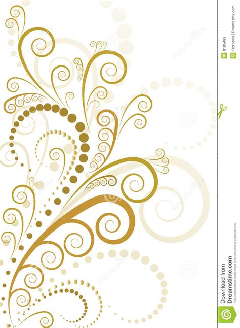 design gold free gold floral design stock vector image of scroll sparse