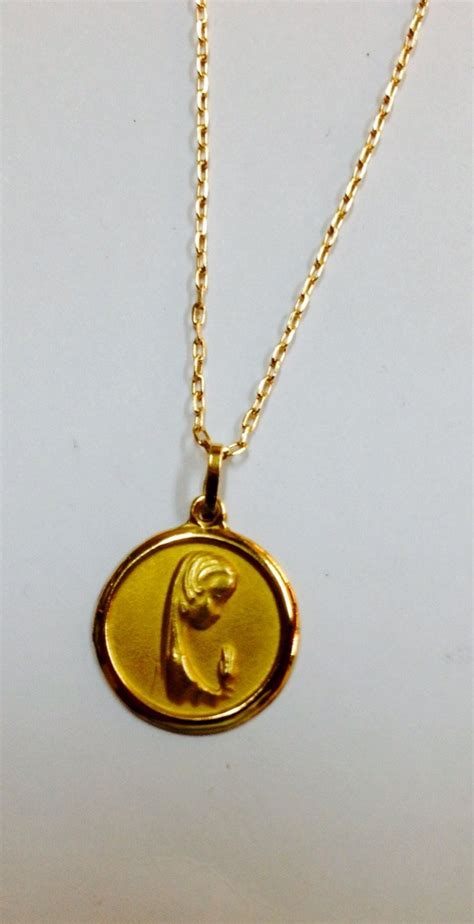 cadenas de oro para ninas cadena oro 18 ktes medalla virgen ni 241 a psp gps 209 900