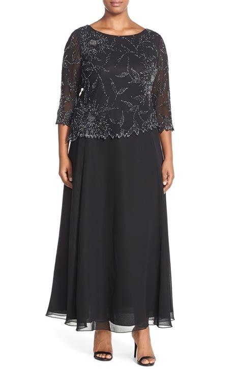 3 4 Sleeve Mock Two Dress j kara black floral beaded 3 4 sleeve embellished mock two