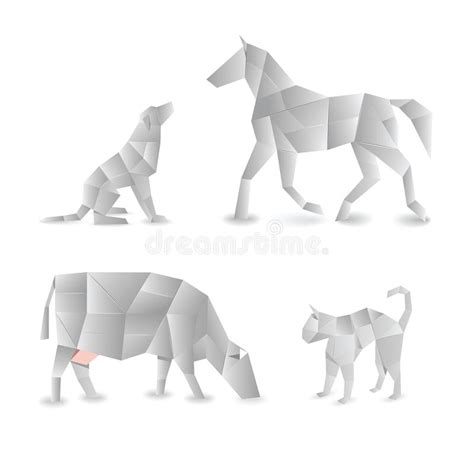 Origami Farm Animals - origami animals royalty free stock image image 25124786