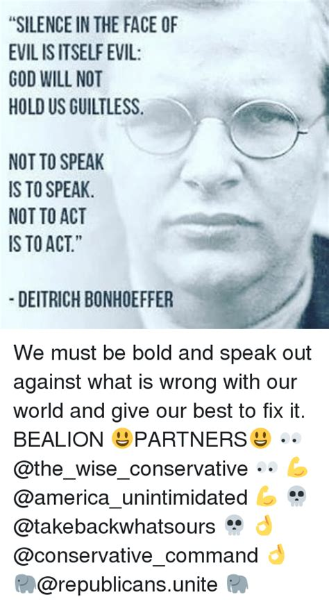 interrupting silence god s command to speak out books 25 best memes about bonhoeffer bonhoeffer memes