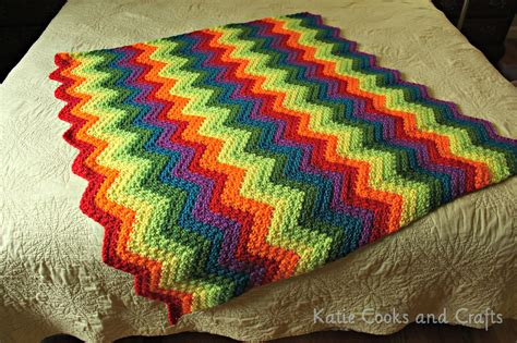 afghan pattern cooks and crafts rumpled ripple rainbow crochet