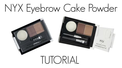 Nyx Cake Powder nyx eyebrow cake powder tutorial
