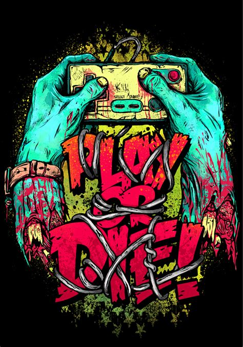 design art zombie gaming t shirt designs on behance