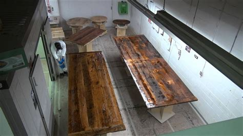 time lapsed epoxy process  reclaimed wood tables youtube