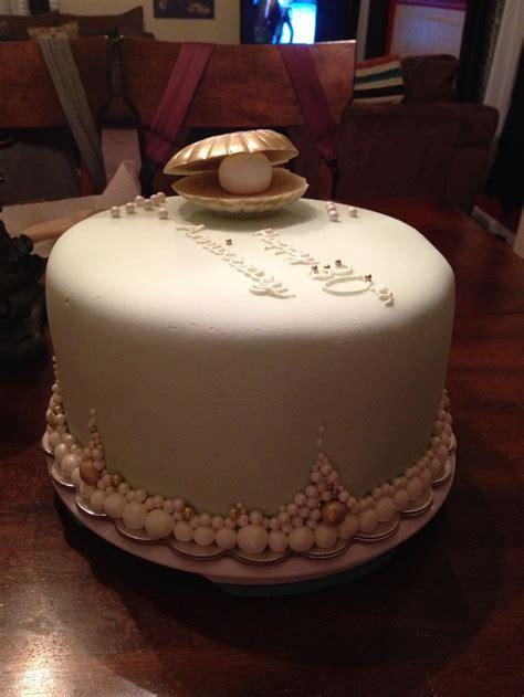 anniversary pearl cake cake pinterest cake  pretty cakes