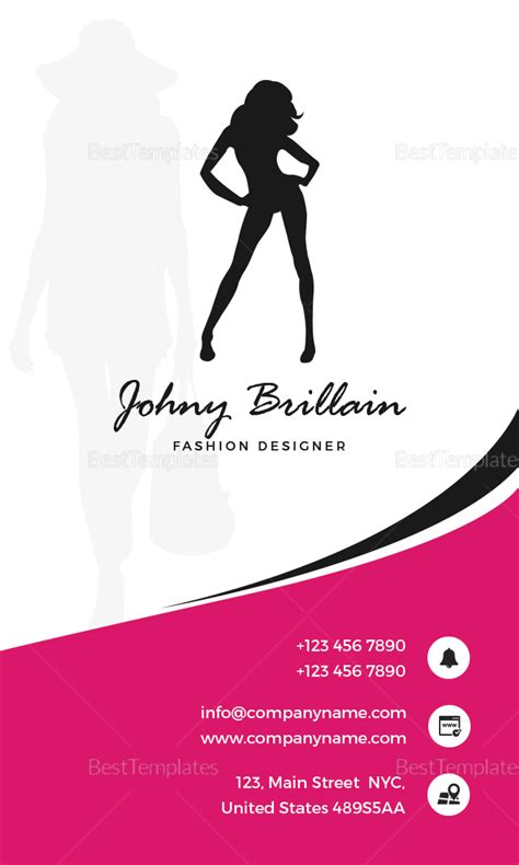 fashion designer business card templates fashion designer business card design template in psd