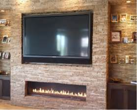 linear fireplace with tv above linear fireplace home design ideas pictures remodel and