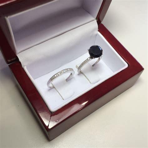Black Moissanite 1 5 Ct black moissanite ring