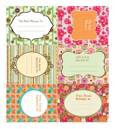 sticker book template free printable book plates jam labels tidymom 174