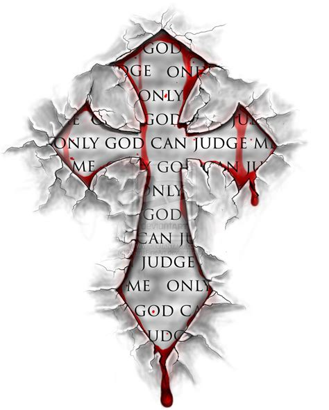 bloody tattoo designs my cross design by ryansfineart on deviantart