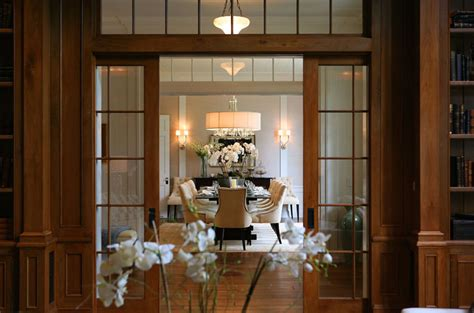 Dining Room Doors | glass pocket doors transitional dining room