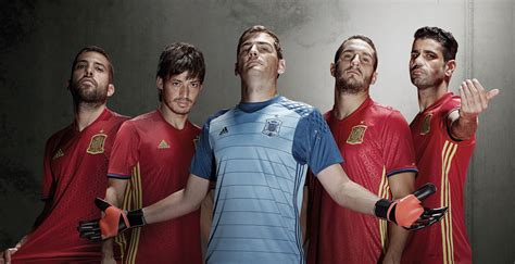 Baju Adidas Berkerah spain 2016 home kit released footy headlines
