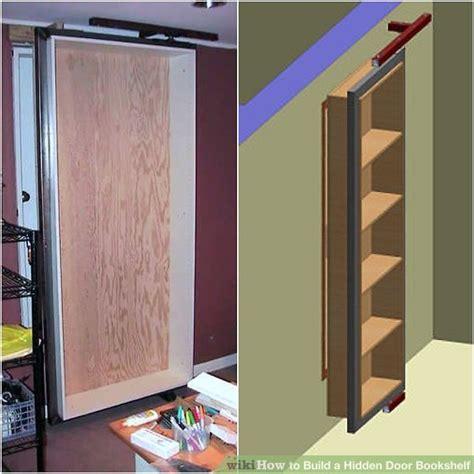 build  hidden door bookshelf  steps  pictures