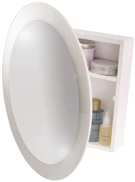 Round Mirror Bathroom Cabinet. 525x525x105mm. Croydex