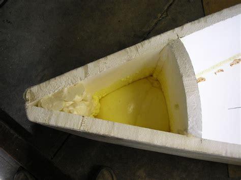 foam boat homemade foam boat here i am pouring some expanding foam