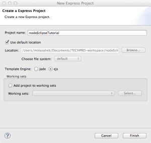 node js tutorial in eclipse how to setup node js project in eclipse techprd
