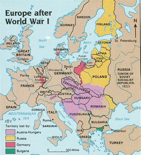 european boarders during the interwar period western