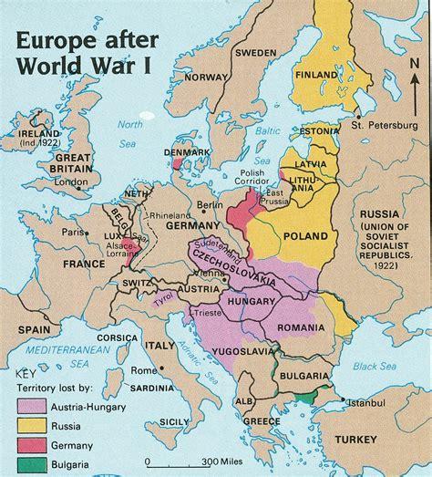 world war 1 map of europe political map of europe during world war 1