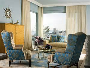 Living Room Blue Gold From Navy To Aqua Summer Decor In Shades Of Blue