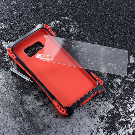 Anticrack Fiber Samsung S8 Anti Knock Shock Bentur Cover r just amira heavy duty dirtproof shockproof rainproof aluminum metal armor king
