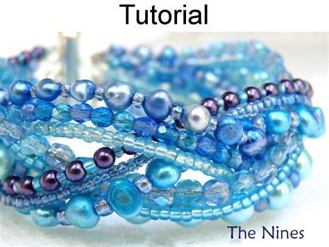 etsy bead pattern bracelet beading tutorial pattern multi strand simple bead