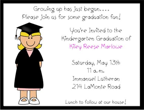 Preschool Graduation Invitation Templates Free kindergarten graduation invitations templates free