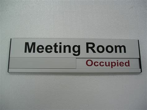 conference room signs conference room signs and vacant occupied slider signs grelsons international