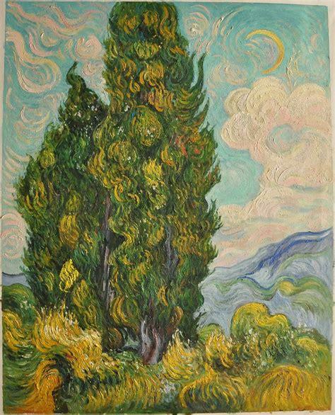 libro van gogh basic art cypresses van gogh reproduction hand painted van gogh
